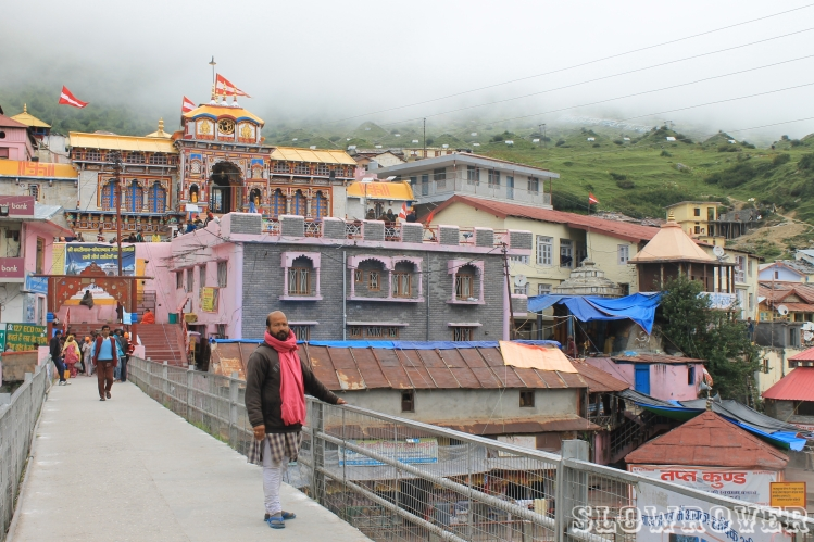 The beautiful Badrinath temple in Uttarakhand (India)